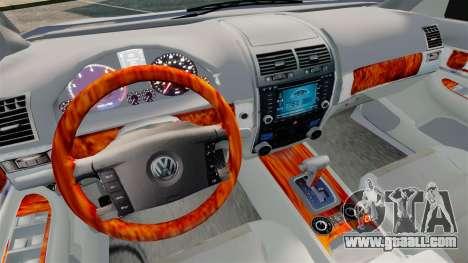 Volkswagen Touareg 2002 for GTA 4 inner view
