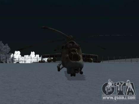 The MI-24 p for GTA San Andreas right view