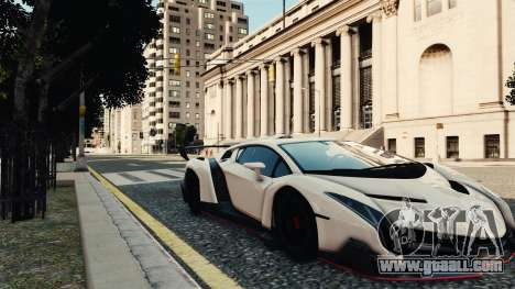 Lamborghini Veneno for GTA 4 back left view