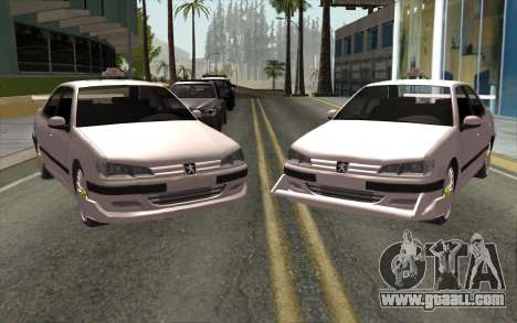 Peugeot 406 Taxi v2 for GTA San Andreas left view