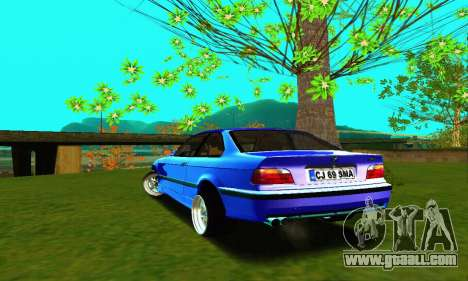 BMW E36 Low and Slow for GTA San Andreas back left view
