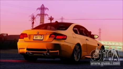 BMW M3 E92 for GTA San Andreas back view