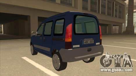 RENAULT KANGOO v2 for GTA San Andreas back view
