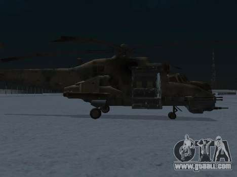 The MI-24 p for GTA San Andreas back left view