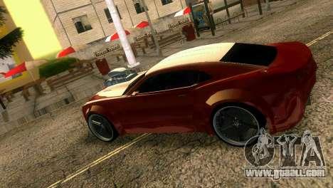 Chevrolet Camaro JR Tuning for GTA Vice City back view