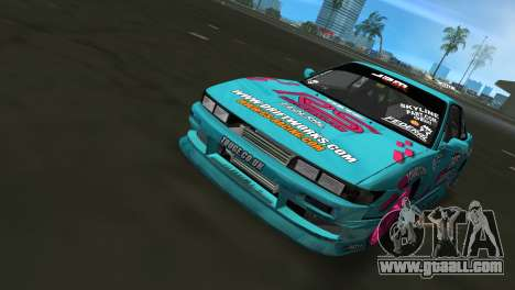 Nissan Silvia S13 Drift Works for GTA Vice City back view