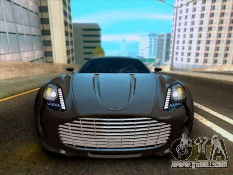 Aston Martin One-77 for GTA San Andreas inner view
