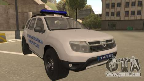 Dacia Duster Granična Policija Was for GTA San Andreas left view