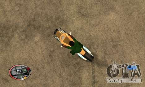 Tadpole Motorcycle for GTA San Andreas left view