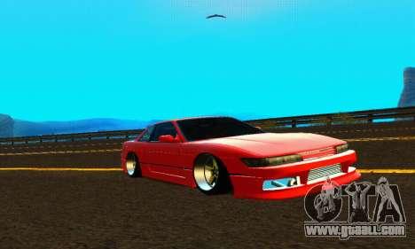 Nissan Silvia S13 HellaDrift for GTA San Andreas inner view