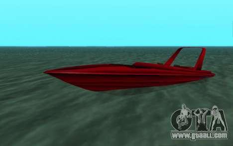 Vice City Squallo II for GTA San Andreas left view