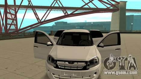 Lada Granta Limousine for GTA San Andreas back view