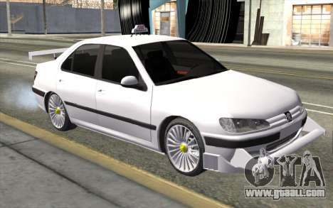 Peugeot 406 Taxi v2 for GTA San Andreas right view