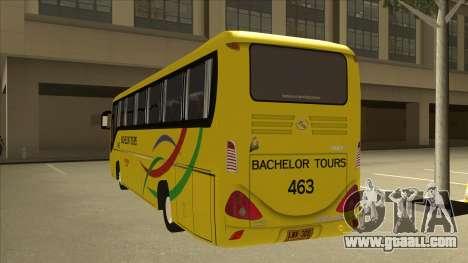 Kinglong XMQ6126Y - Bachelor Tours 463 for GTA San Andreas back view