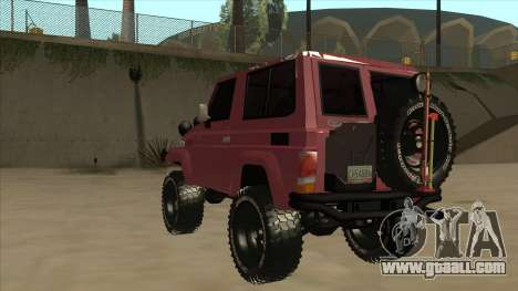 Toyota Machito Fj70 2009 V2 for GTA San Andreas back view