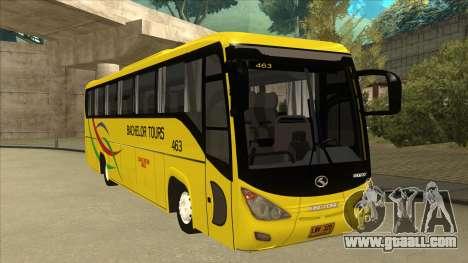 Kinglong XMQ6126Y - Bachelor Tours 463 for GTA San Andreas left view