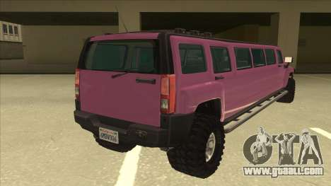 HUMMER H3 Limosine v.2.0 for GTA San Andreas right view
