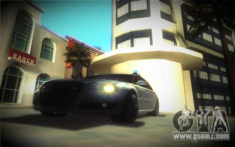 Audi A8L D3 for GTA San Andreas back view