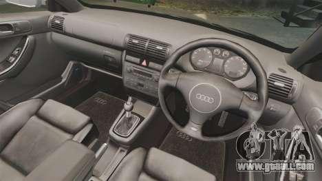 Audi S3 2001 for GTA 4 inner view