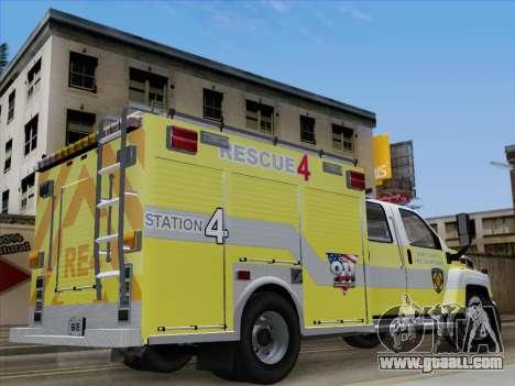 GMC C4500 Topkick BCFD Rescue 4 for GTA San Andreas inner view
