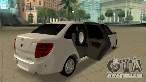 Lada Granta Limousine for GTA San Andreas back left view