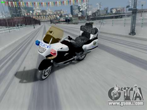 BMW K1200LT Police for GTA San Andreas back left view