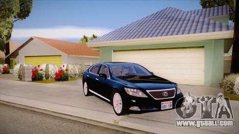 Lexus LS 600h L for GTA San Andreas inner view