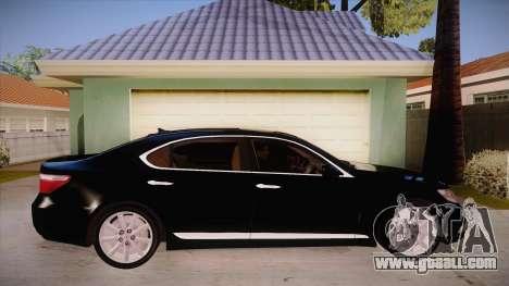 Lexus LS 600h L for GTA San Andreas back view