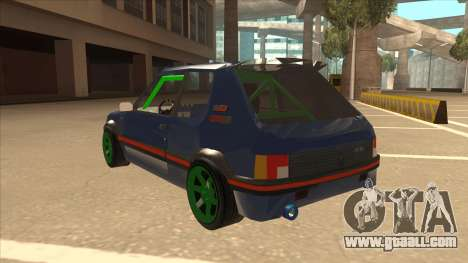 Peugeot 205 GTI for GTA San Andreas back view
