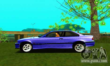 BMW E36 Low and Slow for GTA San Andreas left view