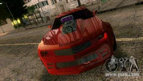 Chevrolet Camaro JR Tuning for GTA Vice City inner view