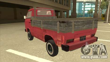 Volkswagen Transporter T3 Pritsche for GTA San Andreas back view
