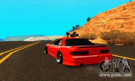 Nissan Silvia S13 HellaDrift for GTA San Andreas back left view