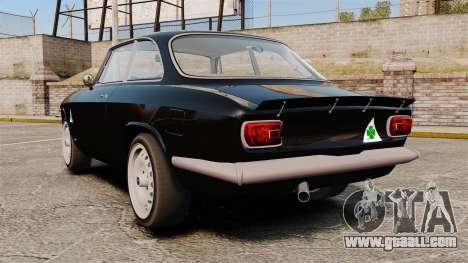 Alfa Romeo Giulia 1965 Sprint GTA Stradale for GTA 4 back left view