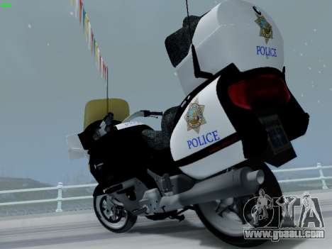 BMW K1200LT Police for GTA San Andreas inner view