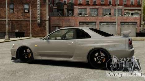 Nissan Skyline R34 for GTA 4 left view
