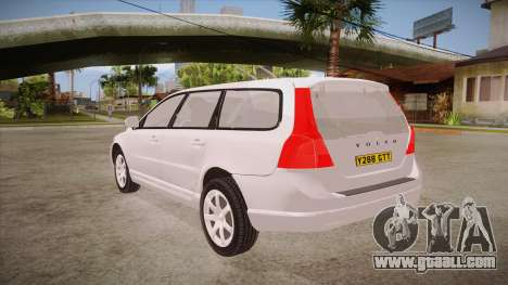 Volvo V70 Unmarked Police for GTA San Andreas back left view