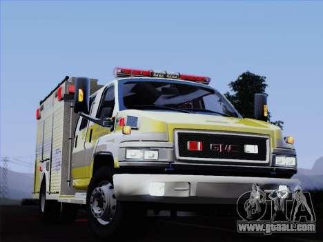 GMC C4500 Topkick BCFD Rescue 4 for GTA San Andreas bottom view