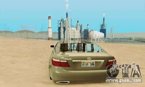 Lexus LS 600h L for GTA San Andreas upper view