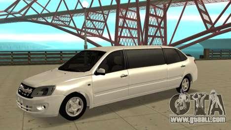 Lada Granta Limousine for GTA San Andreas