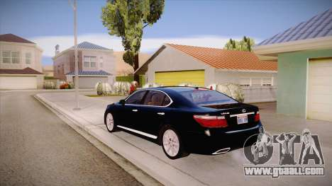 Lexus LS 600h L for GTA San Andreas back left view