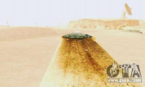UFO Crash Site for GTA San Andreas second screenshot