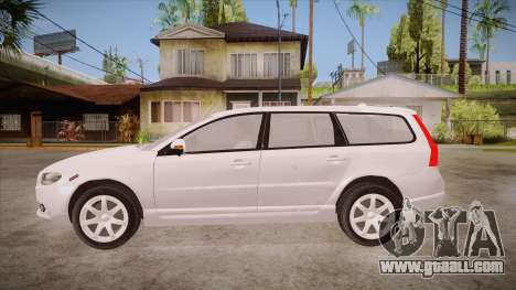 Volvo V70 Unmarked Police for GTA San Andreas left view