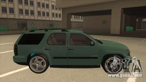 Chevrolet Tahoe Sound Car The Adiccion for GTA San Andreas back left view