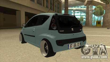 Peugeot 106 EuroLook for GTA San Andreas back view