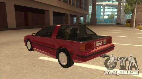 Nissan EXA L.A. Version for GTA San Andreas back view