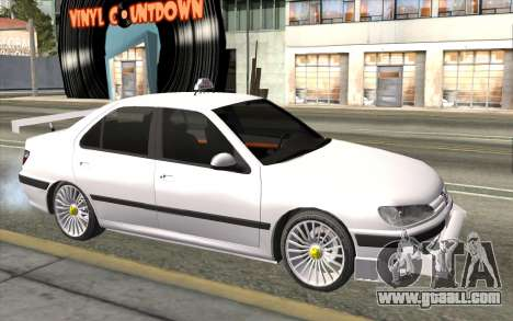 Peugeot 406 Taxi v2 for GTA San Andreas back view