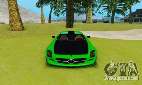 Mercedes SLS AMG 2010 Hamann v2.0 for GTA San Andreas inner view