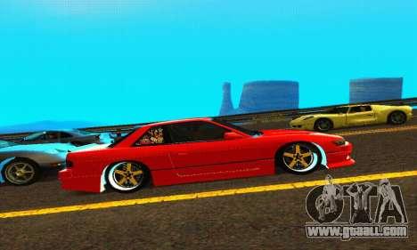 Nissan Silvia S13 HellaDrift for GTA San Andreas back view