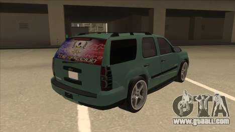 Chevrolet Tahoe Sound Car The Adiccion for GTA San Andreas right view